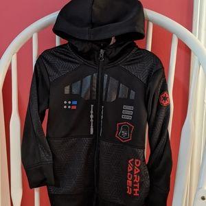 Boys Darth Vader Zip Up Hoodie